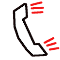 Hang up phone joke icon