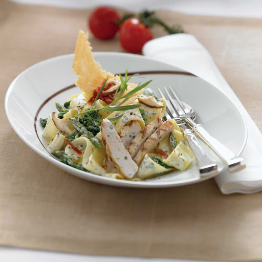 Tuscan Chicken Primavera Pappardelle - The chicken primavera pappardelle on the menu at Celebrity Cruises's Tuscan Grille.
