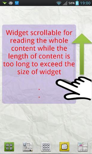 Scroll Memo Note Widget