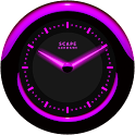Laser Clock Widget A-PURPLE icon