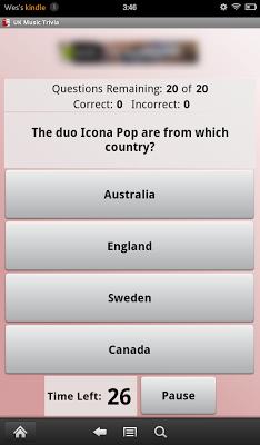 UK Music Trivia - screenshot