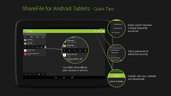 ShareFile for Tablets - screenshot thumbnail