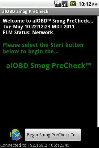 alOBD Smog PreCheck- screenshot