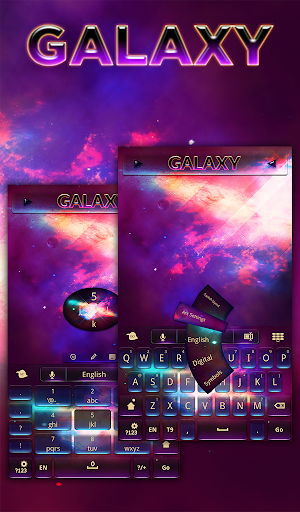カラー銀河のキーボード
