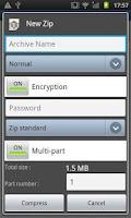 Screenshot of Easy Unrar, Unzip & Zip