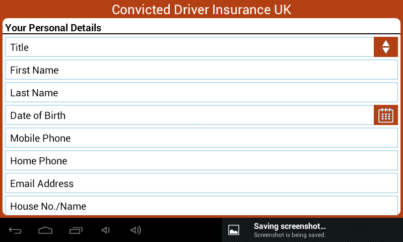 Convicted Driver Insurance UK- screenshot