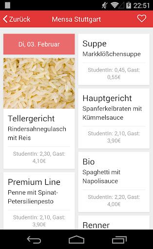 Mensa Speiseplan Deutschland