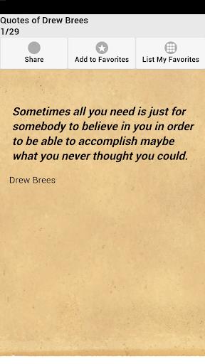 Quotes of Drew Brees