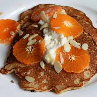 Lemony Buckwheat Pancakes With Honey-vanilla Whipped Ricotta