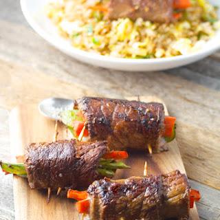 Asian Steak Rolls.