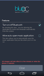 BlueC - Bluetooth Context Con.- screenshot thumbnail