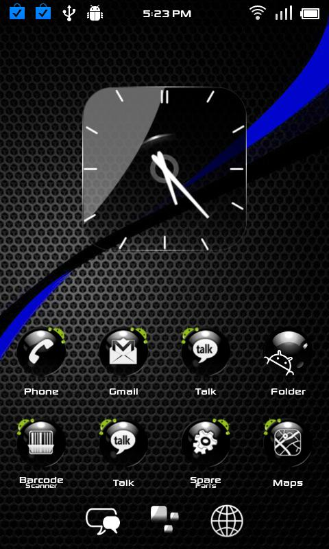 Crystal Blackball HD Adw Theme - screenshot