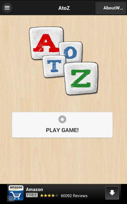 AtoZ Puzzle Game- screenshot