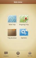 Screenshot of Trip Journal Lite