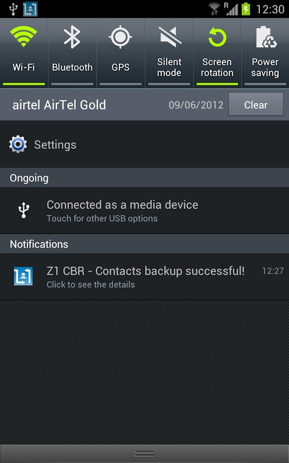 Contacts Backup - AUTOMATIC - screenshot