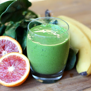 Blood Orange Pineapple Spinach Smoothie.