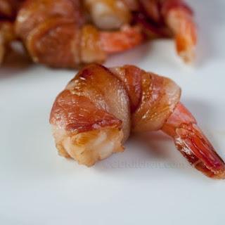 Bacon Wrapped Teriyaki Shrimp.