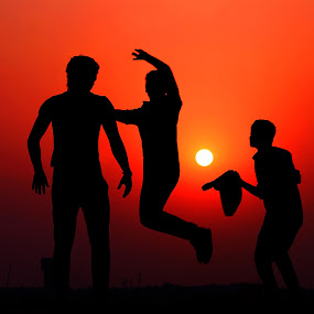 Youth & Joy by Shayaan Noori - People Street & Candids ( sunsrise, life, sunset, silhouette, peace, happiness, fun, youth,  )