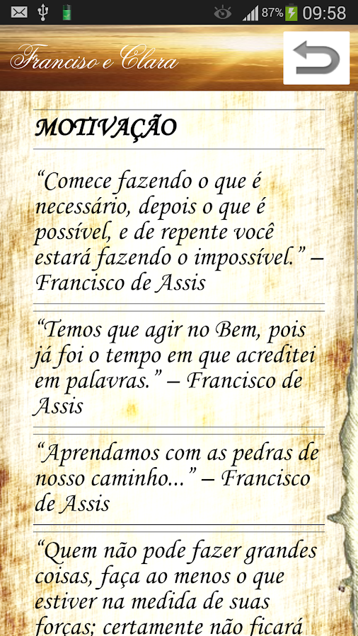 Francisco e Clara de Assis- screenshot
