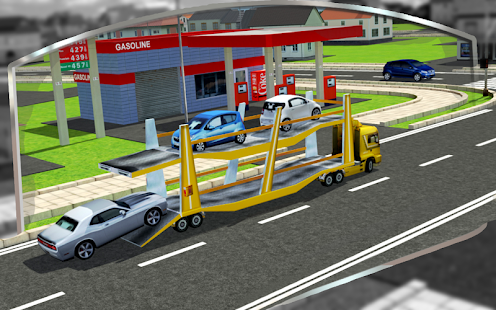 3D Car Transport Trailer Free