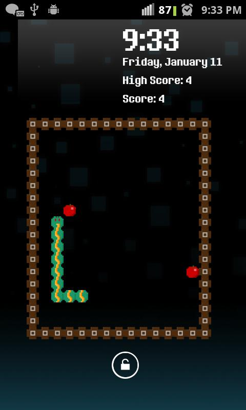 Snake Game Unlock Screen - screenshot