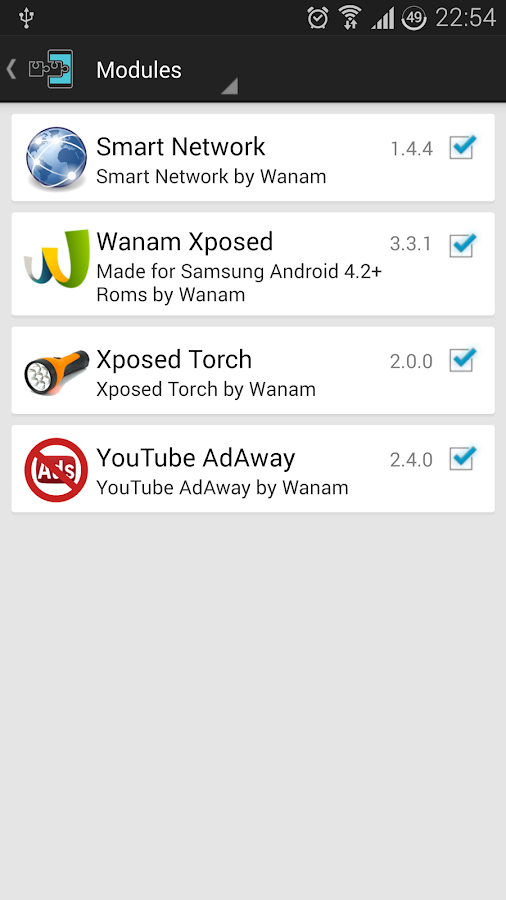 Xposed Torch: Physical Buttons- screenshot