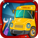School Bus Wash & Garage : Car icon