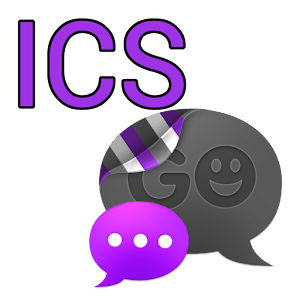 GO SMS THEME-Smooth ICS Purple