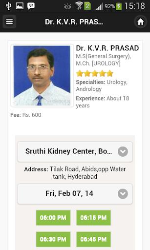 Dr K.V.R. PRASAD Appointments