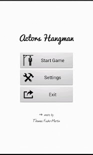 Actors Hangman Free- screenshot thumbnail