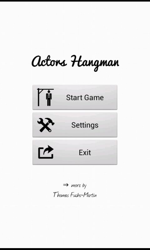 Actors Hangman Free- screenshot