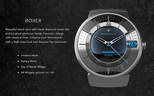 Boxer Watch Face app for Android screenshot