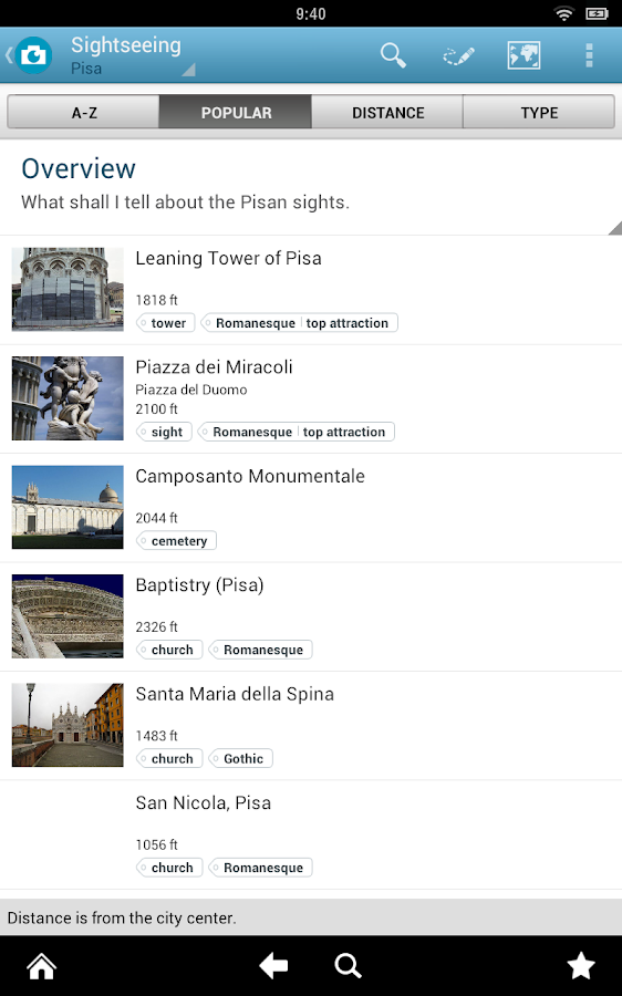 Pisa Travel Guide by Triposo - screenshot