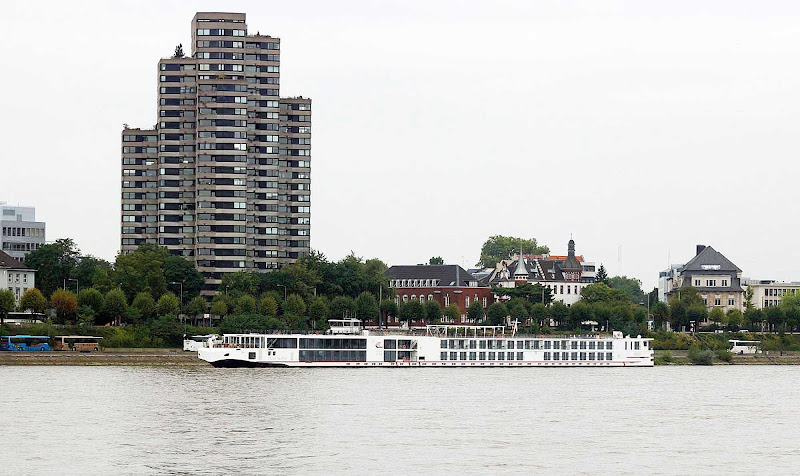 Viking Baldur sails past Cologne, Germany.