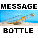 message in a bottle chat logo