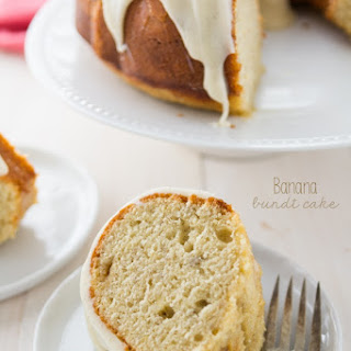 Banana Bundt Cake {with cream cheese frosting}