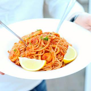 Calamari and Vodka Spaghetti.