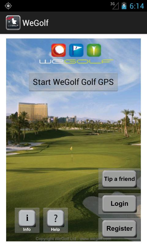 WeGolf Golf GPS Light - screenshot