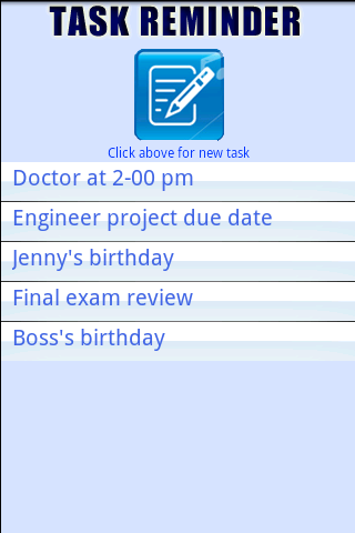 Easy Task Reminder - screenshot