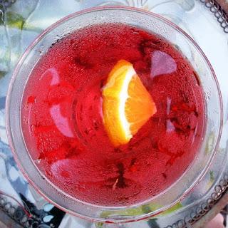 Cranberry Gin Martini.
