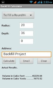 Back Fill Calculator screenshot 2