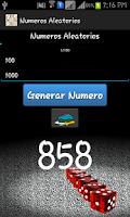 Screenshot of Numeros Aleatorios