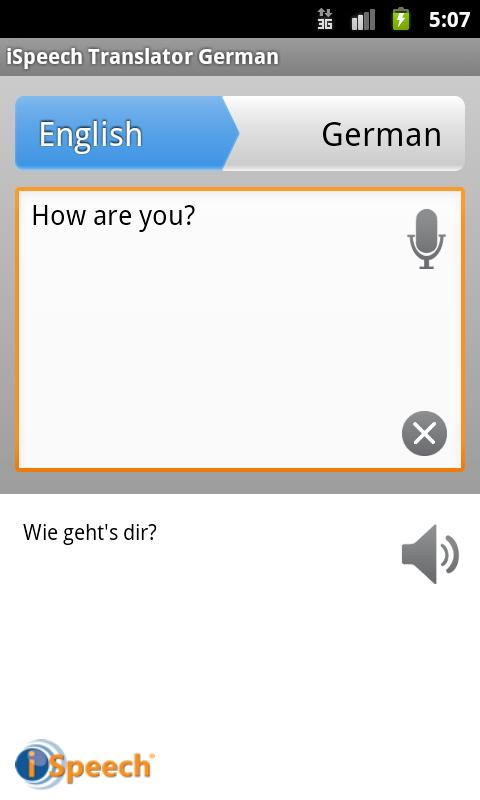 iSpeech German Translator - screenshot