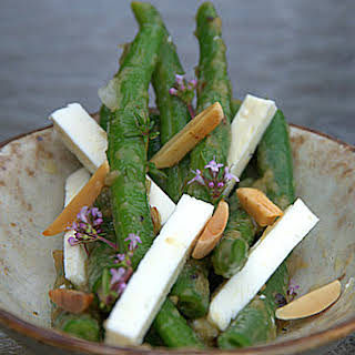 Green Bean and Feta Salad in a Shallot Vinaigrette.