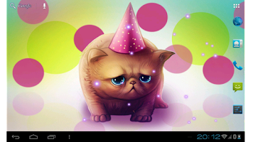 Screenshot of Birthday Kitty Live wallpaper