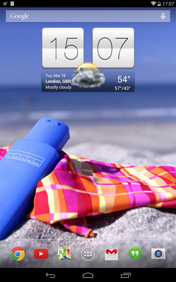 Sense V2 Flip Clock & Weather- screenshot