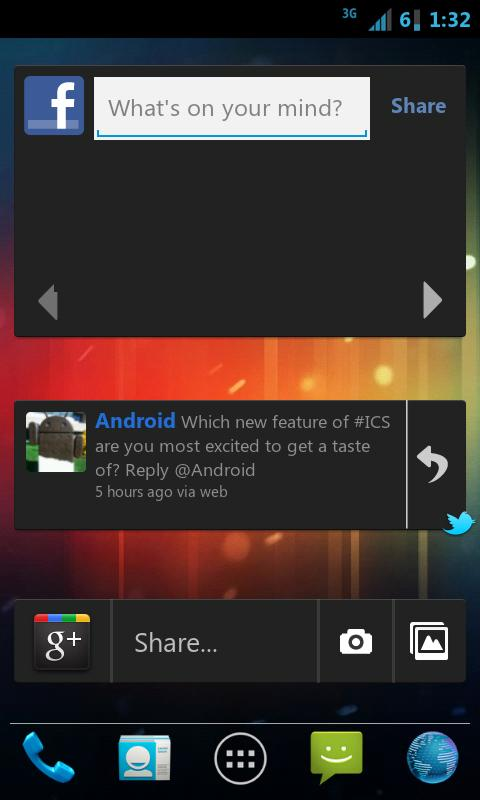 Ice Cream Sandwich CM7 Theme - screenshot