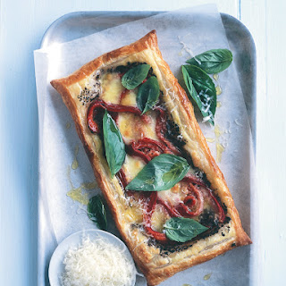 Roasted Capsicum, Bocconcini and Basil Tart Recipe