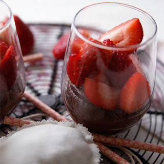 Strawberries & Chocolate Buttercream Mousse