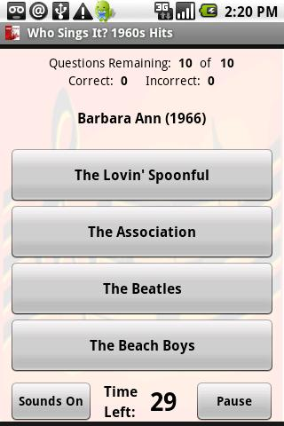 Who Sings It? 1960s Hits - screenshot